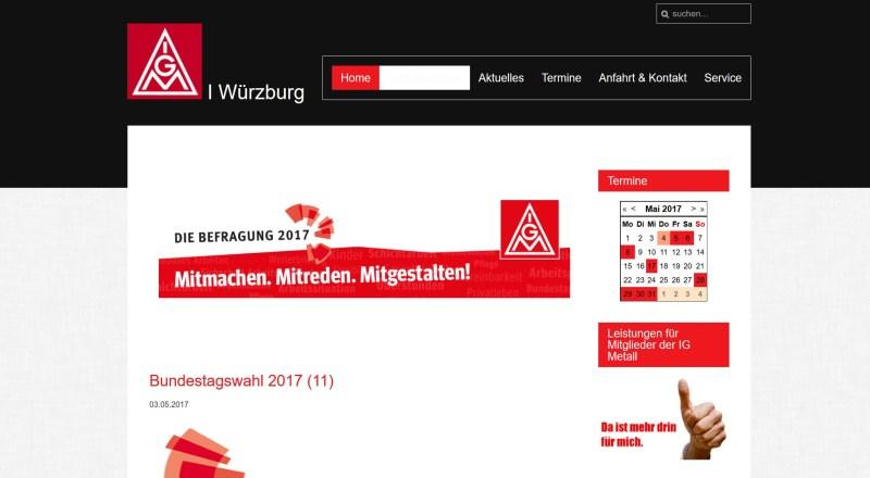 Website IG Metall Würzburg