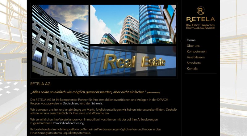 Website Retela AG