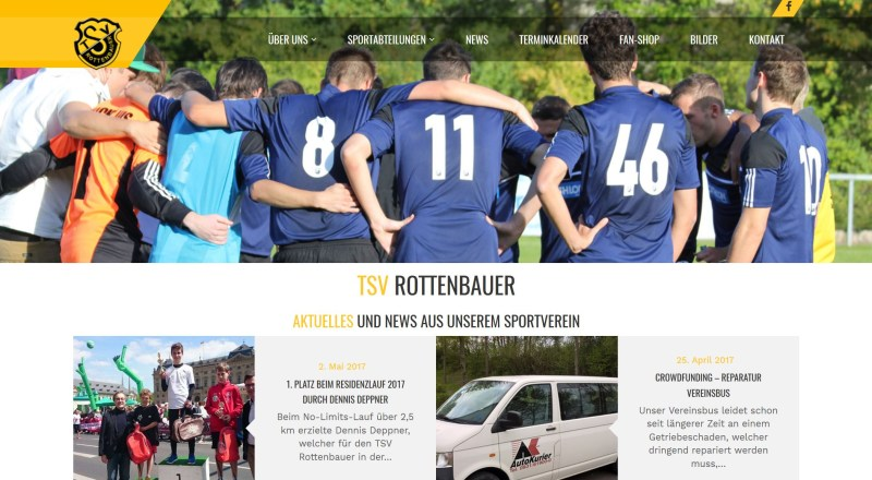 Website TSV Rottenbauer
